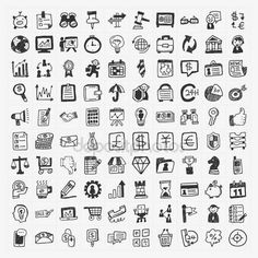 doodleicon.com hand drawn doodle icon - 100 doodle business icon stock images and illustrations