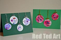 It is wonderful to involve young children in Christmas Card making. Here is a Preschooler Chirstmas Cards idea, that the little ones can manage..