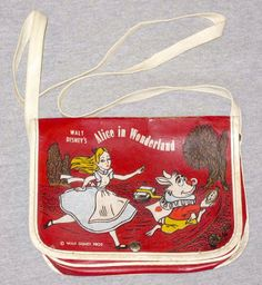 Vintage Disney Alice in Wonderland: National Leather Manufacturing Company Shoulder Bag WD10