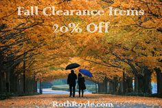 With the holidays approaching, we're putting some of our best #fall pieces on clearance. Save 20% on our fall clearance #sale!! #RothRoyale #Jewelry http://www.rothroyale.com/specials/fall-closeout.html