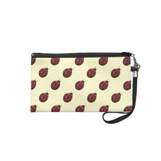 #Beautiful Sparkling red sparkles #Ladybird #Ladybug #Wristlets by #PLdesign #redsparkles #Zazzle