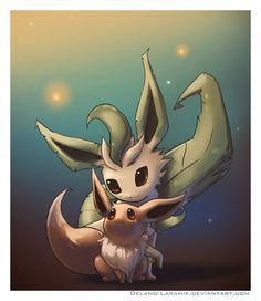 Leafeon and Eevee Umbreon And Espeon, Mudkip, Eevee Evolutions, All Pokemon, Cute Pokemon, Pokemon Stuff, Eevee Wallpaper, Pikachu, Anime