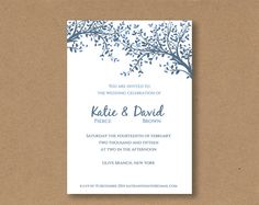DIY editable and printable Wedding Invitation by ConnieAndJoan