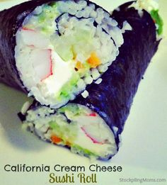 California Cream Cheese Sushi Roll  http://www.stockpilingmoms.com/2013/03/california-cream-cheese-sushi-roll/