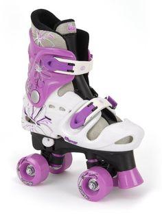 Osprey Quad Skates - Pattini a rotelle, Bambina, Colore Nero, bianco e viola, Taglia 32 - 36 EU