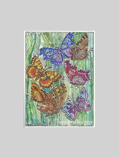 BUTTERFLYBUTTERFLYBUTTERFLY Aceo Print from by THEODORADESIGNS #pcfteam