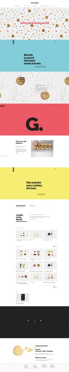 Llora Poquito. Virtual cookie store. (More design inspiration at www.aldenchong.com) #webdesign