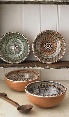 Romanian earthenware bowls - beautiful.