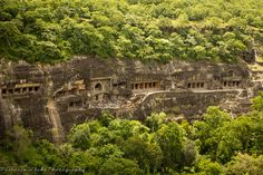 "Ajanta Caves [From Above; in Aurangabad District, Maharashtra, India] are about 29 rock-cut Buddhist cave monuments which date from the 2nd century BCE to about 480 or 650 CE. The caves include paintings and sculptures described by the Archaeological Survey of India as ""The finest surviving examples of Indian art, particularly painting"" which are masterpieces of Buddhist religious art, with figures of the Buddha and depictions of the Jataka tales. - Flickr - Photo Sharing!"