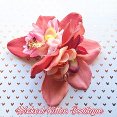 10% OFF everything! 😍😎🌺🍓💗😻Orchid Hair Flower, Floral Headpiece, Tiki Hair Clip, Valentines Day, Hawaiian Flower, Orchid Hair Clip, Pinup Hair Flower, Tropical Flower, #accessories #pink #red #valentinesday #pinkorchid #tikihairclip #orchidhairflower #tropicalhairflower