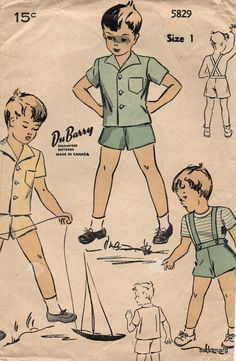 Vintage DuBarry 5829 Toddler Boy  Short Sleeve Shirt by sandmarg