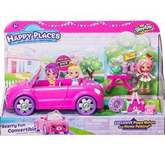 Happy Places Berry Fun Convertible Vehicle Playset, Happy Places Shopkins Bearry Fun Convertible By Shopkins Shopkins Gifts, Shopkins Game, Shopkins Cutie Cars, Shopkins Season, Shoppies Dolls, Shopkins And Shoppies, Shopkins Happy Places, Moose Toys, Preschool Crafts