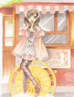 Old fashioned pop corn Lolita by xxxKei87xxx