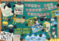 Is your little one obsessed with Shaun the Sheep? If youve got an idea to throw a Shaun themed birthday party he/she will remember, get this DIY kit. Print it, cut it and youre ready for the best birthday party ever, baaaa none! This kit includes the following: Invitation (5x7inches when cut) Entrance Sign Direction Sign Clothes Line Streamer (Please use real clothe pegs to fasten) Party Hat Shaun Face Mask Cake topper - 2 variations Cupcake topper - 2 variations Cupcake Wrapper Food te...