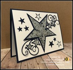 Stampin' Up So Many Stars Easel Card Video Tutorial – Cindy Lee Bee Designs Farmhouse Christmas Ornaments, Christmas Mom, Stampin Up Christmas, Christmas Cards, Holiday Cards, Birthday Cards For Women, Handmade Birthday Cards, Handmade Cards, 40th Birthday Gifts
