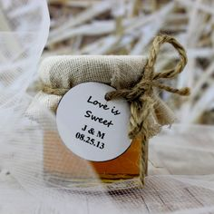 SET OF 12 Barn wedding honey favors honey jars by EcohausProject, $33.00