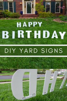 How to make DIY yard signs for birthdays, anniversaries, graduation or any celebration.