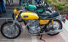 A pair of original XS650 Yamaha's