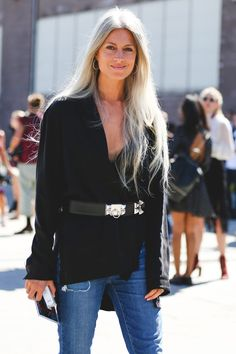 The Most Authentically Inspiring Street Style From New York #refinery29  http://www.refinery29.com/2015/09/93788/ny-fashion-week-spring-2016-street-style-pictures#slide-59  Don't overthink it — sometimes jeans are enough....