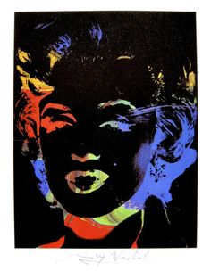"Andy Warhol, ""Marilyn Monroe"" hand signed Print, 1979                                                                                                                                                      More"