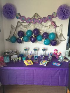 Awesome balloon decorations for baby shower - shower . Awesome Balloon Decorations for Baby Shower – – Mermaid Theme Birthday, Little Mermaid Birthday, Little Mermaid Parties, Mermaid Baby Showers, Baby Mermaid, Mermaid Baby Shower Decorations, Shower Baby, Mermaid Pinata, 4th Birthday Parties
