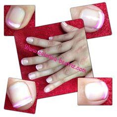 Francesa permanente rosa y blanca