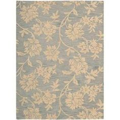 Nourison Rug Boutique Floral Vines Blue/Beige 8 ft. x 11 ft. Area Rug  on  Daily Rug Deals