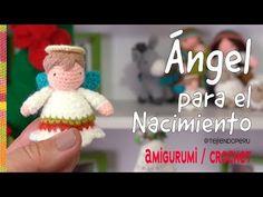 Amigurumi ANGEL for the crocheted Nativity set 👼/ Tejiendo Peru Amigurumi Tutorial, Tutorial Crochet, New Years Tree, Crochet Angels, Learn To Crochet, Tree Decorations, Baby Love, Delicate, Christmas Ornaments