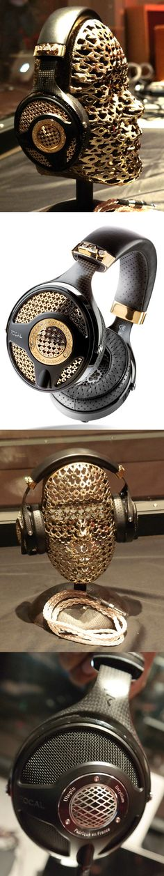 What do $120,000 headphones sound like? Pretty darn good actually, but they look even better. Utopia by Tournaire headphones combine Focal reference-class $3,999 Utopia headphones with 18-karat yellow gold, six carats of diamonds and clever design work by @TournaireParis jewelers. It has unique open-backed speaker drivers and high-end materials, including beryllium domes. Only eight diamond units were made—the $12,000 stand is extra. But diamond-free @focalcorporate Utopias are available…