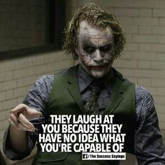 **ill be damned** weeks now u bn really doing da most on here. U got da nerves. Joker Qoutes, Joker Frases, Best Joker Quotes, Badass Quotes, People Quotes, True Quotes, Motivational Quotes, Inspirational Quotes, Scareface Quotes