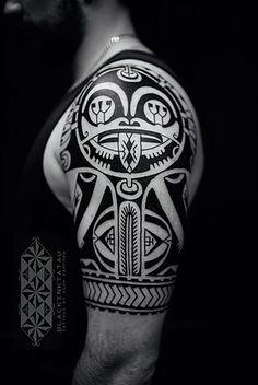 Latest work of tattoo artist Igor Kampman Polynesian tattoos and graphic tattoos