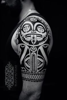 Latest work of tattoo artist Igor Kampman Polynesian tattoos and graphic tattoos