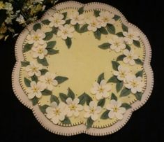 Apple blossoms penny rug