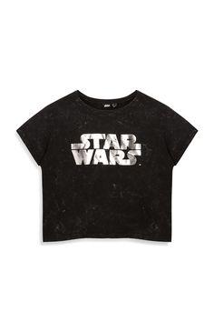 Black Star Wars Crop Top