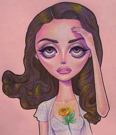 • Swan Song • Lana Del Rey #LDR #art by Peter Curtis