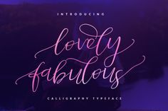 Introducing to you a beautiful calligraphy font, Lovely Fabulous is designed and shared by DEDY Saputra. Lovely Fabulous Script is a stylish calligrap. Script Typeface, Calligraphy Fonts, Typography Fonts, Lettering, Cool Fonts, New Fonts, Latest Fonts, Pretty Fonts, Creative Fonts