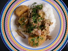 Slow-Cooker Coconut & Green Curry Pork Recipe ♥