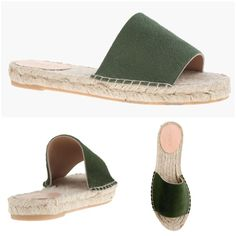 "Brand New! J.Crew calf hair espadrilles ☀️ LOVE these!!! Considered keeping even though they are too narrow and I know I will get boo boo feet. Decided they will be better off with someone to wear and love them in the blissful comfort they are made for❤️. Tuscan olive color, Valencia calf hair espadrille slides. Calf hair upper. Leather lining. Made in Spain. 7/8"" heel. Runs slightly small. Would be perfect for a size 6.5. Only tried on in my house. Perfect! J. Crew Shoes"