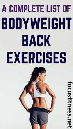 Check out this list of all bodyweight back exercises that you can do at home without any equipment or weight. For both lower back and upper back. Back Workout At Home, Back Fat Workout, Lose Your Belly Diet, Lose Belly Fat, Fun Workouts, At Home Workouts, Weight Loss Blogs, Back Exercises, Back Muscles