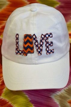 Auburn Love State Applique Ballcap by InitialConceptsbyLuC on Etsy, $24.00