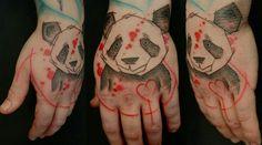 panda hand tattoo