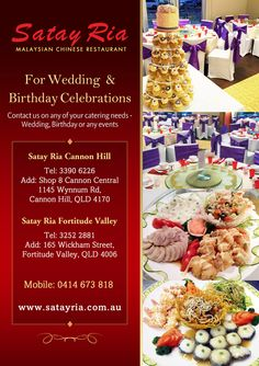 Satay Ria Ads Design Contact Satay Ria on any of your catering needs - Wedding, Birthday or any events.  Visit www.StudioGrfx.com to view my portfolio. All enquiries please email at pascalg@studiogrfx.com. #graphic #graphicdesign #studiogrfx