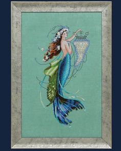 mermiad cross stitch pattern siren and the shipwreck by mirabilia at thecottageneedle.com