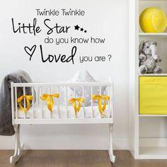 Twinkle twinkle little star - Kjempesøt wallsticker