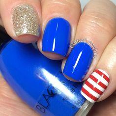 Instagram media by rachell_rachell memorial day #nail #nails #nailart