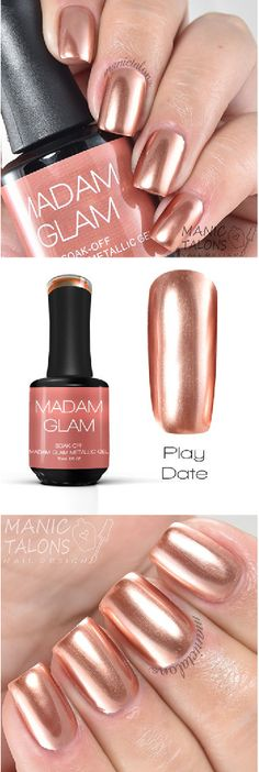 THE perfect rose gold!! - gel polish made in NYC, vegan, cruelty free and healthy!