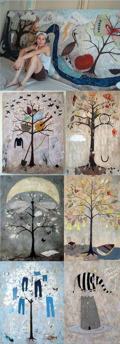 rebecca rebouche artist - Google Search Illustrations, Illustration Art, Art Studios, Artist At Work, Oeuvre D'art, Painting Inspiration, Amazing Art, Cool Art, Art Projects
