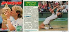 Special report on Stefan Edberg's first success at Wimbledon by Nirmal Shekar for Indian weekly Sportstar of July 16th,1988. A deep insight of the men's and women's editions of the tournament.