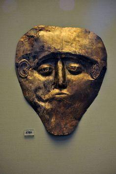 Bronze age Etruscan electrum mask C.1400BC
