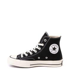 Converse Chuck 70 Hi Sneaker - Black / Parchment Black Converse Outfits, Converse 70s, Black Chucks, Black High Top Converse, Converse Chuck, New Sneakers, Chuck Taylor Sneakers, Sneakers Fashion, High Top Sneakers